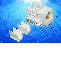 Модуль Keystone неэкранированный, RJ-45, cat.5e, 90°, 110/Krone тип, универсальный, белый