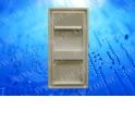 Заглушка для накладки французского типа 22,5х45, белая