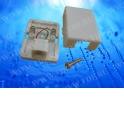 Розетка телефонная внешняя / 1 порт RJ-11(6p2c) / 2 контактная, белая