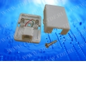 Розетка телефонная внешняя / 1 порт RJ-11 / 2 контактная, белая, блистер