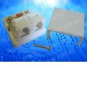Розетка телефонная внешняя / 2 порта RJ-11(6p2c) / 2 контактная, мини, белая