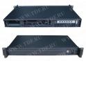 Корпус компьютерный (серверный)  19'', 1U, размеры Ш*Г*В* 430мм*250мм*44,4мм, для плат размера Mini(17см x 17см), отсеки для дис