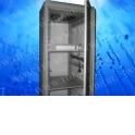 Шкаф напольный 18U серия T2 (600х800х988), серый, разобранный, с аксессуарами: PDU 5 розеток, блок вентиляторов, полка