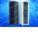Шкаф напольный 42U серия TS (600х1012х2055), чёрный, разобранный (упакован в 4 коробки) , фронтальная дверь - стекло, задняя две