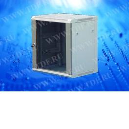 Шкаф настенный 15U серия WM (600х450х769), серый, собранный