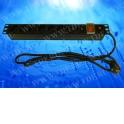 """Блок розеток 19"""", 16А, 8 розеток, шнур 1.8 м, выключатель, черный"""