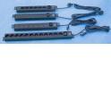 Блок розеток 220V, 6 розеток, шнур 1.6 м, выключатель, чёрный
