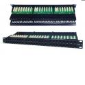 """Патч-панель UTP, 19"""", 48 портов RJ45, cat.6, 1U, Dual Type  IDC, Netko СКС"""