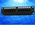 """Патч-панель MINI, UTP, 12 портов RJ45, cat.5e, 1U, 110 тип, """"L"""""""