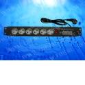 """Блок розеток 19"""", 220V, 10A, 6 розеток, с защитой, шнур 3,0 м, выключатель, чёрный (Россия)"""