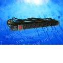 """Блок розеток 19"""", 8 розеток, 16А, 2.0 м, выключатель, евровилка"""