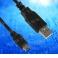 Кабель соед. шт. USB A - шт.mini USB B  для зарядки и передачи данных 1м, USB 2.0 черный EOL