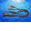 Шнур сетевой с вилкой ( длина 1.8 м) черный