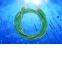 Патч-корд Netko СКС UTP4 cat.5e, 2.0м, литой коннектор, зеленый