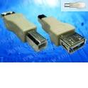 Переходник гнездо USB A- штекер USB B