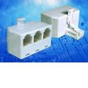 Переходник телефонный штекер RJ11 (6p4c) на три гнезда RJ11 (6p4c) / блистер