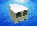 Переходник телефонный гнездо RJ11 (6p4c) на два гнезда RJ11 (6p4c) / блистер