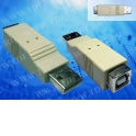 Переходник штекер USB A- гнездо USB B