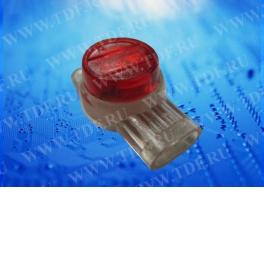 Соединитель кабельный тип Скотчлок-3 (3 проводника) для жил 0,4-0,9 мм, внешний диаметр 1,67 мм (100 штук/упаковка)