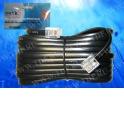 Удлинитель телефонный (6р4с) 5 метров / черный, блистер