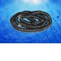 Шнур телефонный витой (4р4с) 7,5 метра / черный, блистер
