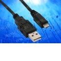 Кабель соед. шт. USB A - microUSB для зарядки и передачи данных, 1м, USB 2.0 черный