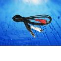 Шнур аудио-видео: 2RCA-6,3 мм стерео ( длина 1.2 м, литой) блистер
