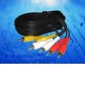 Шнур аудио-видео: 3RCA-3RCA ( длина 5 м, литой) блистер
