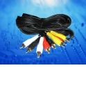 Шнур аудио-видео: 4RCA-4RCA (длина 5 м, литой) блистер