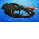 Шнур аудио-видео: SCART (21 pin)-2RCA ( длина 1.2 м, литой)
