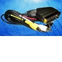Шнур аудио-видео: SCART (21 pin)-3RCA ( длина 1.5 м, литой) с переключателем направления сигнала