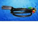 Шнур аудио-видео: SCART (21 pin)-4RCA ( длина 1.5 м, литой)