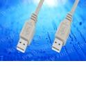 Кабель соединительный  шт.USB A - шт.USB A тип 2.0 (1,5 м) блистер