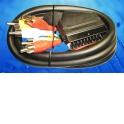 Шнур аудио-видео: SCART (21 pin)-6RCA ( длина 1.5 м, литой)