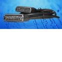 Шнур аудио-видео: SCART (21 pin)-SCART (21 pin) ( длина 3 м, литой)