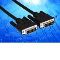 Шнур аудио-видео DVI(штекер) - DVI (штекер), никель, (1,5м) бл