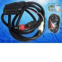 Шнур аудио-видео штекер SCART- штекер 2RCA+ штекер SVHS (1,5м) блистер