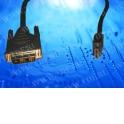 Шнур аудио-видео DVI(штекер) -  HDMI (штекер), никель, 7,0М блистер