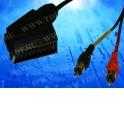 Шнур аудио-видео: SCART (21 pin)-2RCA ( длина 1.2 м, сборный) Cabletech