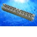 Плинт ТК неразмыкаемый, ABS, 10 пар, универсальный, нумерация (1-0)