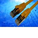 Патч-корд Netko СКС FTP4 сat.5e, 0.5м, литой коннектор, желтый