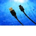 Кабель соед. шт. USB для зарядки и передачи данных телефонов Samsung, 20 pin (ver1), 1м, USB 2.0 черный