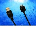 Кабель соед. шт. USB для зарядки и передачи данных телефонов LG, 18 pin, 1м, USB 2.0 черный