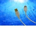 Кабель соед. шт. USB для зарядки и передачи данных телефонов LG, 18 pin, 1м, USB 2.0 белый