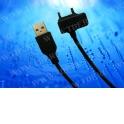 Кабель соед. шт. USB для зарядки и передачи данных телефонов SonyEricsson, 1м, USB 2.0 черный