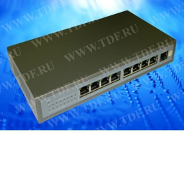 NS10829P PoE, коммутатор, настольный, 9 портовый, 8 PoE 802.3af 100Mbit портов, 15.4W, 1 Uplink 1Gbit порт, кабель питания ЕВРО,