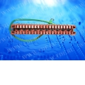 Плинт ТК заземления неразмыкаемый,  ABS, 10 пар, медные контакты, нумерация (0-9)