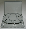 Коробка оптическая настенная, 4 порта FC/SC/UPC SM, пластик