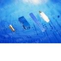 Коннектор ВО, SC, симплекс, для 3,0 мм, (потери >35 Дб), синий