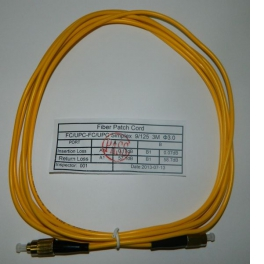 Патч-корд FC-FC/UPC SM Simplex 3.0мм 9/125, 3м